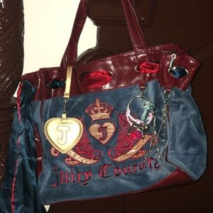 Suede Juicy Couture Purse w/ embellishments